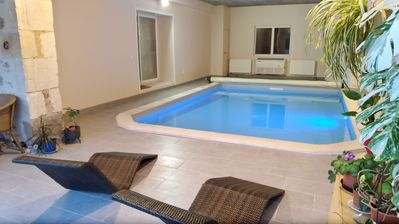 Photo for Cottage 90m2 indoor pool near Puy du Fou