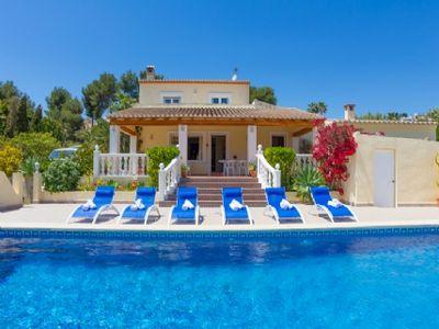 Photo for Nice large villa on the Costa Blanca in Moraira for 10 people