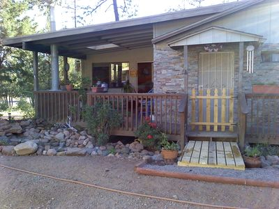 Photo for Need A Little R&R? Charming Mnt Getaway-Views & Fireplace from Deck !