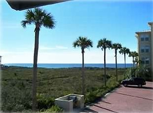 View from front deck facing the  gulf with access from second bedroom