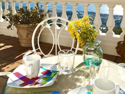 Photo for Splendid villa overlooking the sea, dreamy sunsets and lots of relaxation!