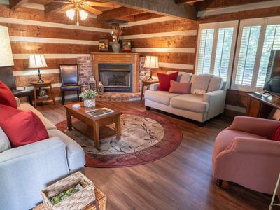 Photo for Cozy & Chic Rustic Retreat-Luxury Log Home ❤️ Near Downtown, Opry and Much More♫