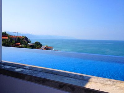 Infinity pool with amazing view