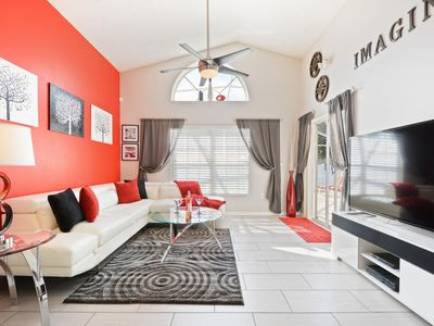 Photo for Welcome to The Imagination Villa 3 miles from Disney World,  southfacing pool