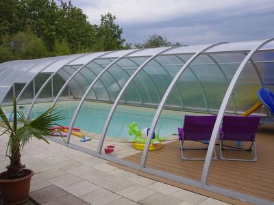 Photo for Gite 'Les 3 Cigognes' in CERNAY with indoor pool and veranda