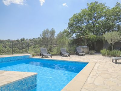 Photo for Hillside Villa With Private Pool And Walking Distance To the Village Of Carces
