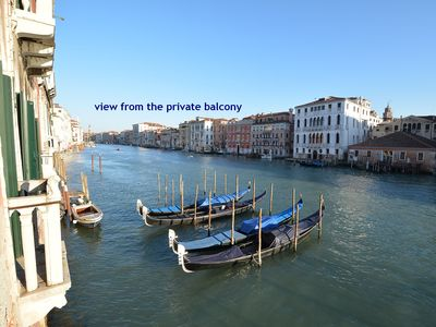 Photo for delicius apartment with 9 windows over the Grand Canal, historical palace