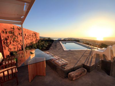 Photo for 270 Oia's View House I, Private Swimming Pool, Garden & Sunset View