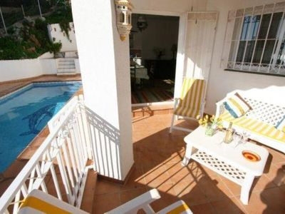 Photo for Nerja: Comfortable villa with private pool, very close to the main beach