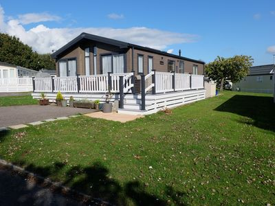 Photo for Luxury 2 Bed Holiday Lodge at 5* Shorefield Country Park