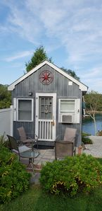 Photo for WATERFRONT TINY HOUSE COTTAGE, IT'S TINY, IT'S NAUTICAL, IT'S BIG ENOUGH