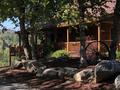 Photo for Gorgeous White Mountain Log Home in Franconia - Hike, Bike, Golf, Ski and More!