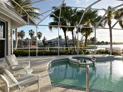 Photo for Pet-Friendly,Lakefront Home with Kayaks, Bikes, Spa & Heated Pool- Villa Four Mile Cove - Cape Coral
