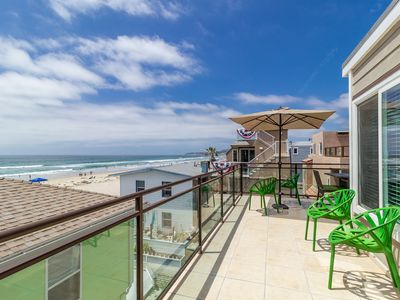 Photo for #711 - Stunning Ocean Views, 25 Feet Away From The Sands, Newly Remodeled, Ac