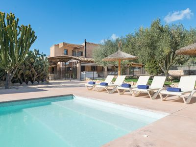 Photo for CAN PRIM - Spectacular villa with private pool, dream-like exteriors and the beach just 7 km away.