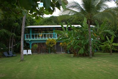 View of the house from the beach.
