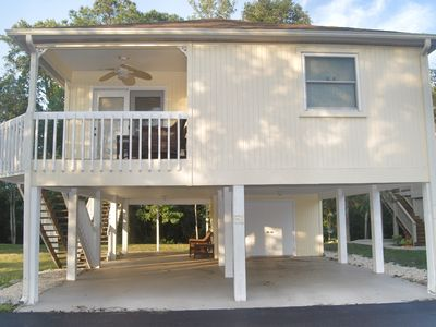 Photo for 2 BR 2 BA RAISED BEACH HOUSE LESS THAN 1/2 MILE FROM THE OCEAN!!!