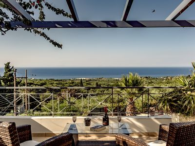 Photo for Villa Keshi, private swimming, panoramic sea views in tranquil location!