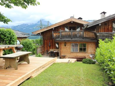 Photo for Atmospheric, authentic chalet with sauna on unique ski-in, ski-out location!