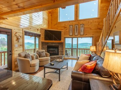 Photo for Brand New Cabin - 2BR plus Loft with A++++++ Views!  Designer Decorated - Must See!