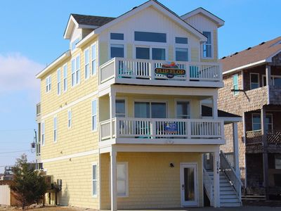 Photo for Flip Flop 5 Bedroom Semi-Oceanfront Vacation Home, Full Renovation 2016, Private Pool, Hot Tub!