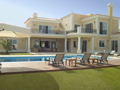 Photo for Exclusive villa with panoramic views on the Ria Formosa and sea.