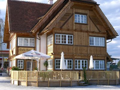Photo for Apartment in the historic Café + Haus Ebner with its own natural swimming pond, sauna