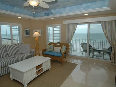 living room Chateaus on White Sands Clearwater Beach Florida unit 502