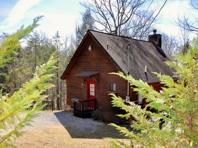 Photo for Private Cozy Cabin/WiFi & Linens Provided/Heart-Shaped Jaquzzi Tub