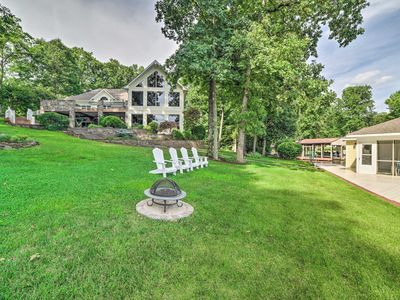 Photo for NEW! Lake Anna Home w/ Pvt Dock & Outdoor Kitchen!