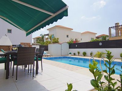 Photo for This 3-bedroom villa for up to 6 guests is located in Protaras and has a private swimming pool, air-