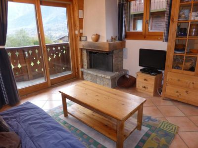Photo for 1st floor, view mountain, swimming pool, balcony, parking, tv, ski locker, 36m², Les Houches