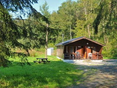 Photo for Chalet for 4 persons located in a small forest with river.