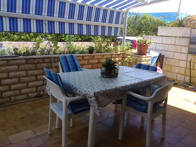 Photo for Nice apartment with fresh and large relaxation veranda 10 m from the beach