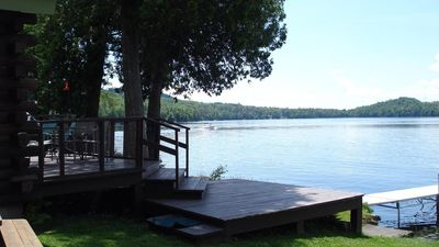 Photo for Loon Lodge, a waterfront 2 bedroom  cabin on Newark Pond in Newark, Vermont, NEK