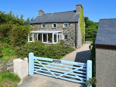Photo for Ysgubor Bach is a superb detached stone cottage located close to the tip