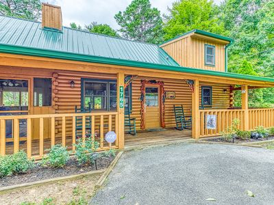 Photo for Hillside cabin w/ hot tub, gas fireplace & deck - minutes from entertainment!
