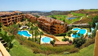 Photo for Modern apartment, breathtaking view, private terrace, golf, choice of 5 pools