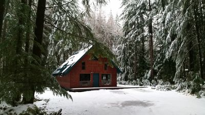 This wonderful A-Frame sits on 2 acres of tall timber.  Enjoy great NW living.