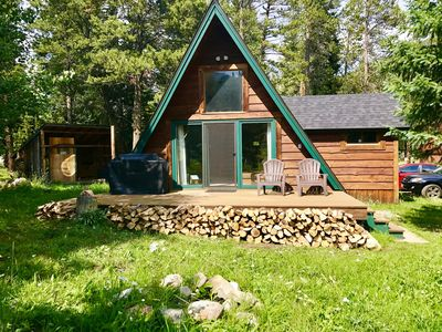 Photo for 2-bedroom A-frame Mountain Home, Wood Stove, Private Laundry, Free WIFI