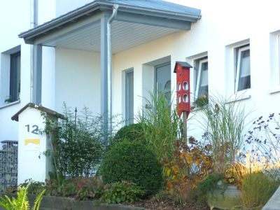 Photo for Bright apartment with private balcony and use of garden in the Weser Uplands