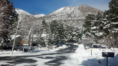 View from the front yard looking toward Mt. Elden.
