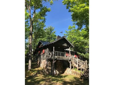 Photo for June Special! Endless Shoreline, Log Lodge, Secluded Forest/ Moose Lake Hayward