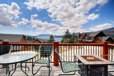 Amazing views of the lake from the large decks