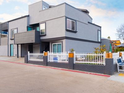 Photo for Ocean View Beach House In Mission Beach, Steps to the beach!