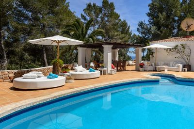 VILLA CAN ARJAN - Private villa with pool per 12 persons, free FAST  INTERNET WIFI and Air Conditioned !!! Close Ibiza town and Las Salinas  beach !! -