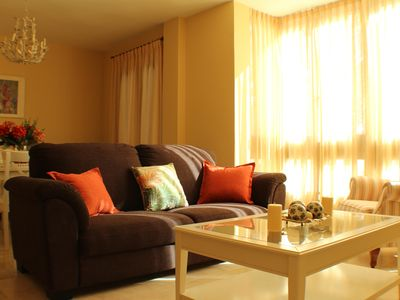 Photo for Magnificent apartment, 3 bedrooms, ideal location, CENTER, WIFI, A / C and GARAGE