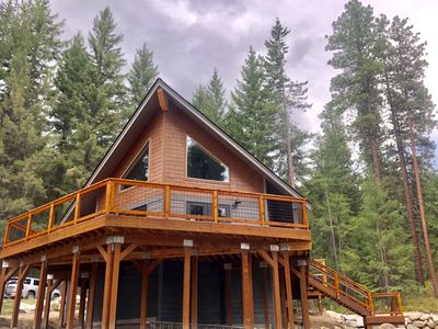 Photo for Brand new chalet with hot tub.