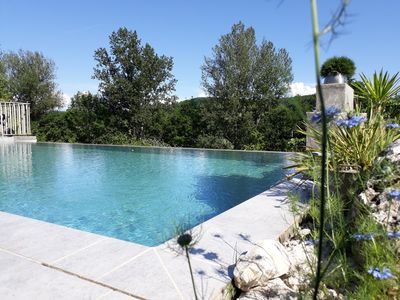 Photo for Gite pool DEBORDEMENT heated private-quiet-charm-countryside Lauzerte Medieval