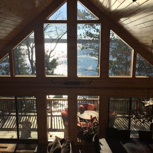 Chalet view of the lake from the Master Suite